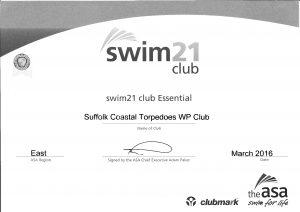 Our SWIM21 Status is renewed